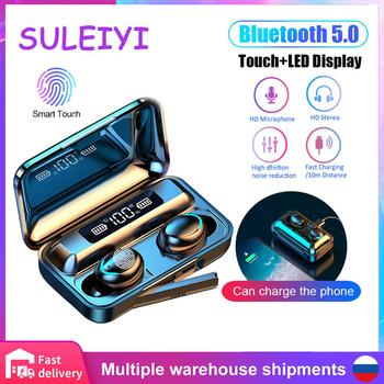 F9 tws wireless headphones V5.0 Touch bluetooth earphones LED Display sport Earbuds With 2000mah Power Bank Mic gaming headset