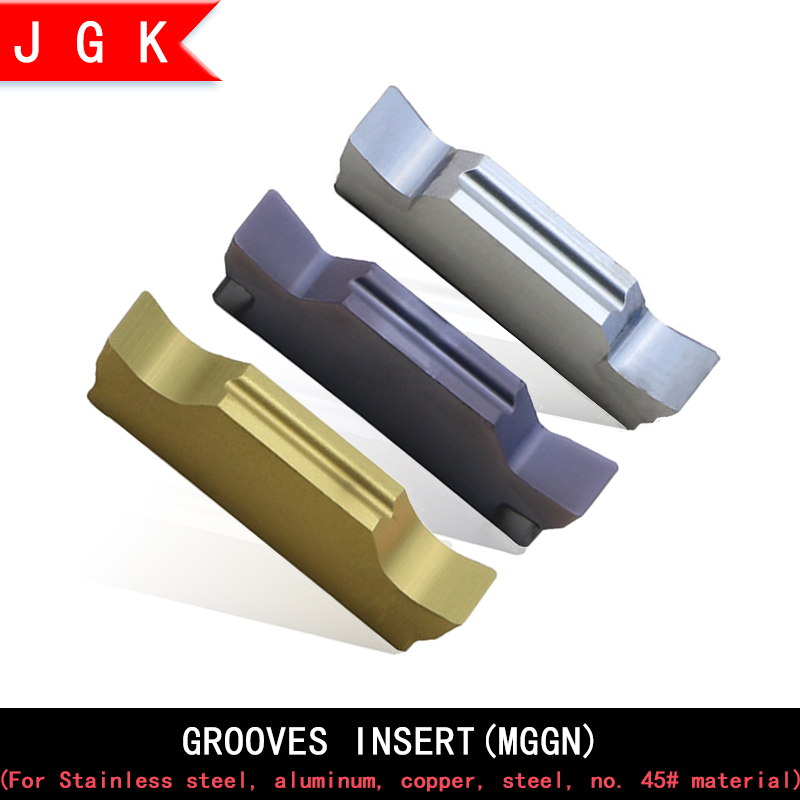 Grooving Insert MGGN150 MGGN200 MGGN250 MGGN300 MGGN400 MGGN500 Carbide Turning Insert For Steel Parts Stainless Steel Aluminum