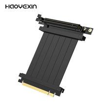 HAOYEXIN PCI Express 3,0 высокоскоростной 16X гибкий удлинитель кабеля, переходник для ПК, графических карт, соединитель
