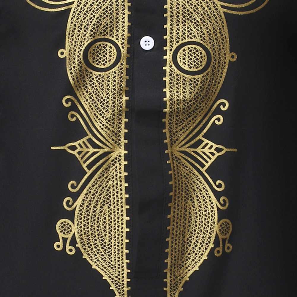 Conjunto de pantalón negro africano estampado Dashiki conjunto de 2 piezas conjunto de ropa africana tradicional 2020 para hombres traje africano Casual para hombres