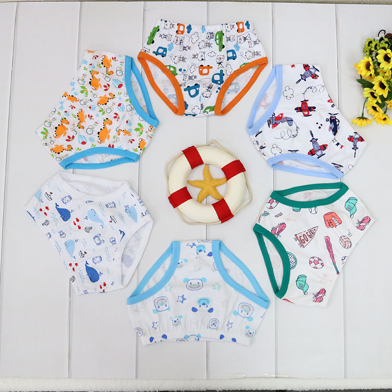 Children Clothing Pure Cotton Panties For Boys 1-5 Years Old 6 Pieces/combo Different Colors Underwears Kids Clothes