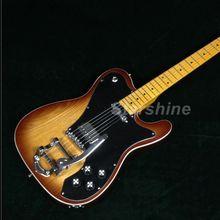 купить Classic TL Electric Guitar T-ER12 Bigsby Bridge Black Pickguard BigHeadTobacco Color ASH Body по цене 17520.29 рублей