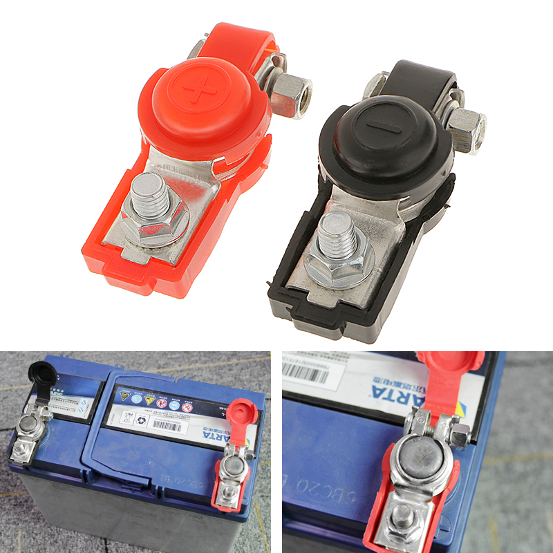 2PC Universal Replacement Auto Car Battery Terminals Clamp Clips Connectors