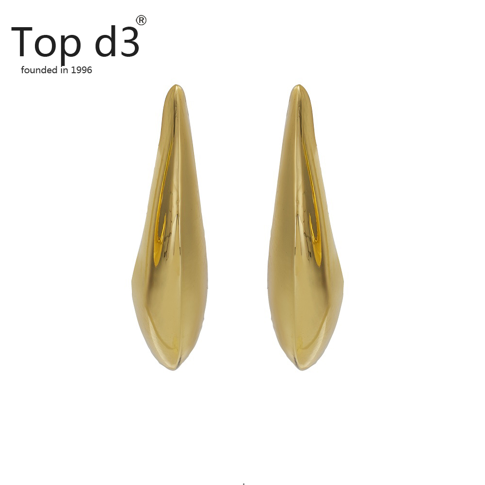 Top d3 Viennois Group Vintage Earrings Large for Women Statement Earrings Geometric Gold Earrings African Trend Fashion Jewelry