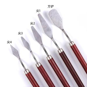 5Pcs/set Stainless Steel Spatula Kit Palette Gouache Supplies for Oil Painting Knife Fine Arts Painting Tool Set Flexible Blades