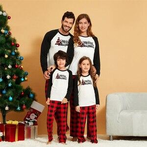 New 2020 Family Matching Christmas Pajamas Outfits Set Xmas Adult Kids Nightwear Family Cute Print Christmas Sleepwear Suit