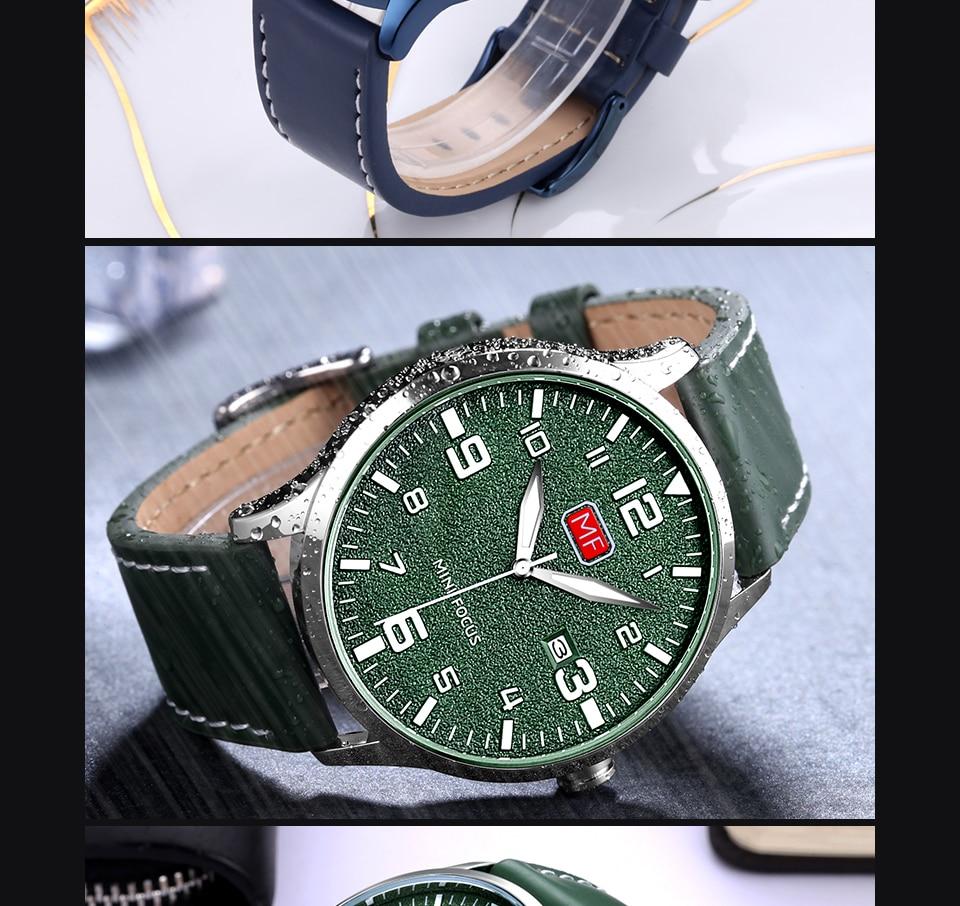 H6b31f7e9017b42c99615245038823c89L MINI FOCUS Luxury Brand Men's Wristwatch Quartz Wrist Watch Men Waterproof Brown Leather Strap Fashion Watches Relogio Masculino