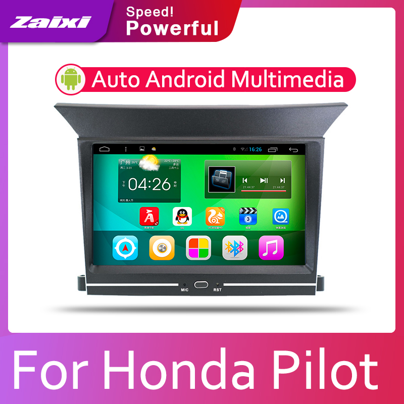 ZaiXi Car Android System 1080P IPS LCD Screen <font><b>For</b></font> <font><b>Honda</b></font> <font><b>Pilot</b></font> 2009~2014 Car Radio Player <font><b>GPS</b></font> Navigation BT WiFi AUX image