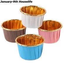50/100 unidades/pacote cupcake muffin forro bolo envoltórios baking cup bandeja caso bolo copos de papel pastelaria ferramentas festa suprimentos