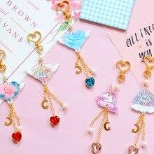 new cute unicorn whale keychain cartoon sweet heart love lucky car key chain girl Bag Pendant Keyring Lovers holiday gifts