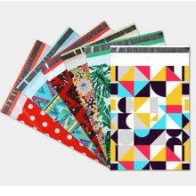 새 메일 가방 폴 리 봉투 성격 색상 인쇄 귀여운 패턴 포장 의류 익스프레스 가방 우편물 우편 배송 가방