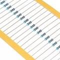 100 шт., 1/6 Вт, 1R ~ 1M, 1% металлический пленочный резистор 100R, 220R, 1K, 1,5 K, 2,2 K, 4,7 K, 10K, 22K, 47K, 100K, 8,2 K, 3,3 M, 1K5 2K2, 4K7, R Ом сопротивление