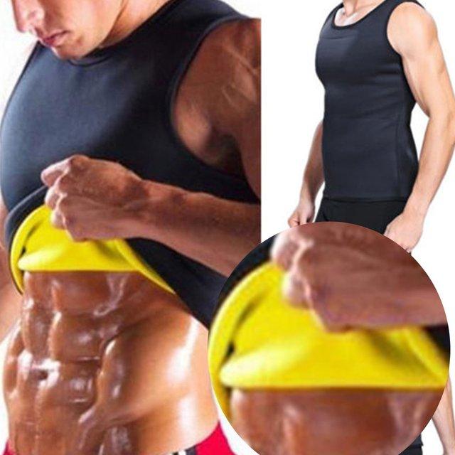 Sleeveless Slimming Belt Belly Men Slimming Vest Body Shaper Abdomen Fat Burning Shaperwear Waist Sweat Corset Weight Loss 4