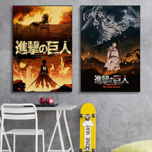 Canvas Poster Picture Attack Lnterior-Decoration Wall-Art Titan Japanese Anime High-Definition-Printing