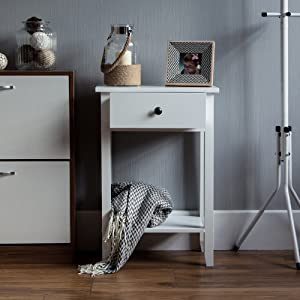 Whtie Console Table Living Room Hall Way Telephone Table Stylish Modern One Drawer with Shelf Bottom