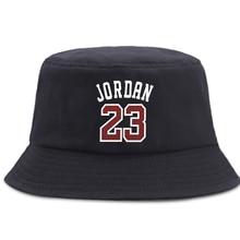 Fisherman's Hat Caps Bucket-Hats Sunscreen Jordan Panama Hip-Hop Fold Beach Women 23-Letter-Printed