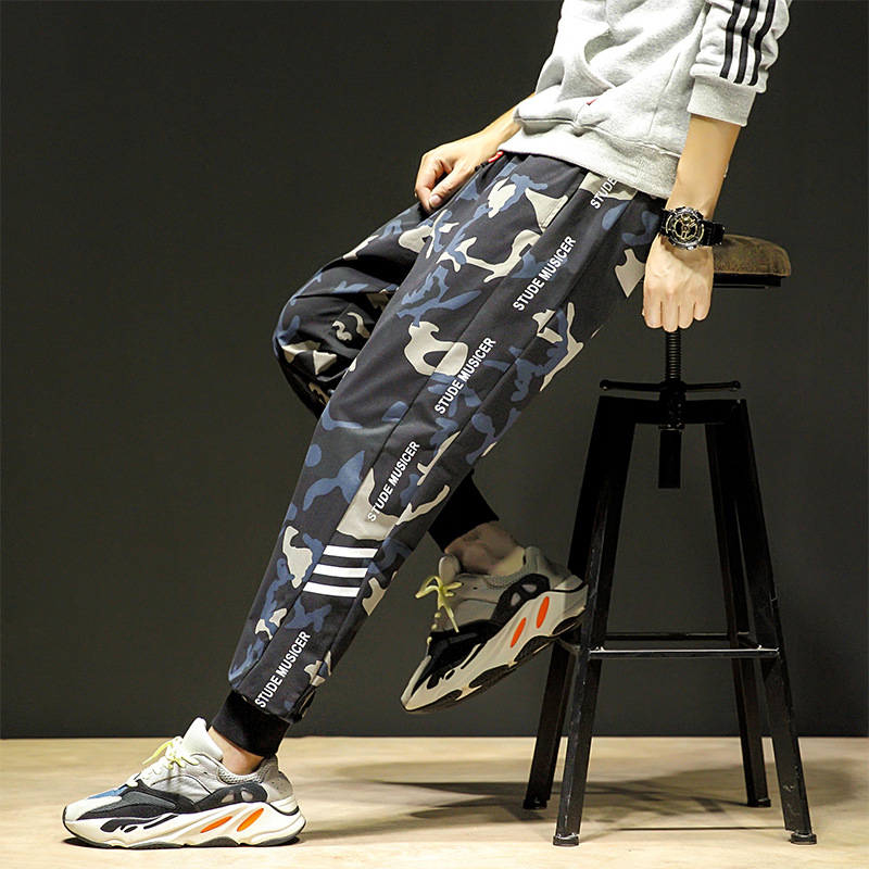 Mens Pants Fashions Men 2019 Autumn New Trend Casual Blue Camouflage Men's Wild Trend Casual Pants