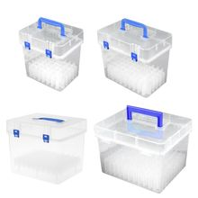 Transparent Marker Pens Storage Box Container Art Craft Tray Office Desk Organizer Home School Students Study Supply