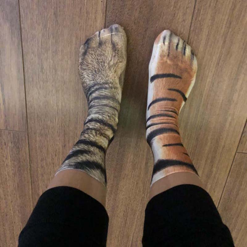 moisture socks animal paw print