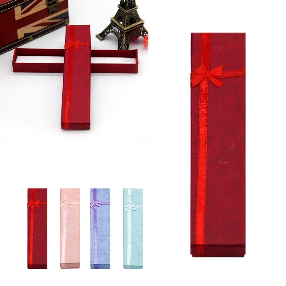 2020 Hot New Arrival Fashion Jewelry Necklace Bracelet Bowknot Gift Organizer Display Cardboard Box Holder Display Jewelry Box