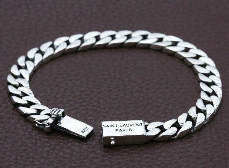 925 sterling argent mode tendance bijoux personnalité couple rétro Thai argent nouveau bracelet livraison gratuite