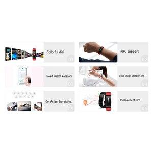 Image 5 - Huawei banda 4 pro smartband monitor de saúde freqüência cardíaca autônomo gps proativa monitoramento saúde spo2 oxigênio no sangue