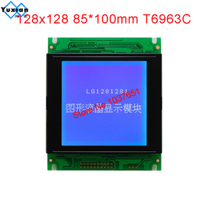 Image 5 - LCD module 128128 128x128 display panel graphic 85X100mm T6963C UCI6963 LG1281281 instead WG128128A  New brand