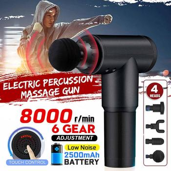8000r/min Therapy Massage Guns 6 Gears Muscle Massager Pain Sport Massage Machine Relax Body Slimming Relief With 4 Heads