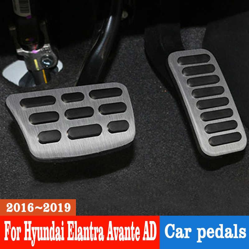 De acero inoxidable Acelerador de coche Pedal de acelerador Pedal de freno Pedal de embrague para Hyundai Elantra Avante AD 2016-2019 accesorios de coche
