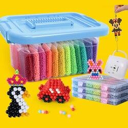 Diy grânulos pegajosos de água brinquedos para crianças montessori educacional quebra-cabeça mágica brinquedos contas conjunto crianças meninas meninos 3 5 7 8 anos brinquedos
