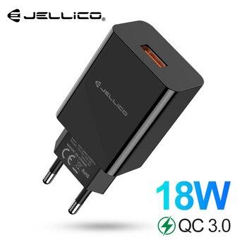 Jellico 18W Carga Rápida Carregador USB 3.0 Carregador Do Telefone Móvel para o iphone Fast QC 3.0 Carregador para Huawei Samsung galaxy S9 + S10