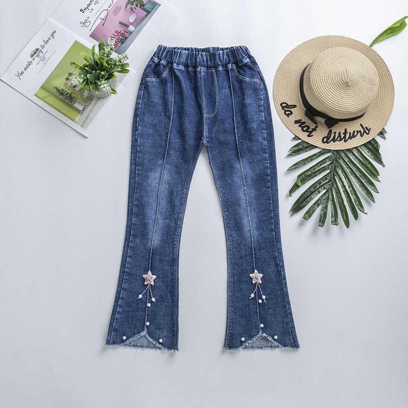 2019 Moda Kot Gençler Kızlar Için Skinny Jeans Çocuklar Işlemeli Giyim günlük kot Kalem Kot Pantolon Ilkbahar Sonbahar