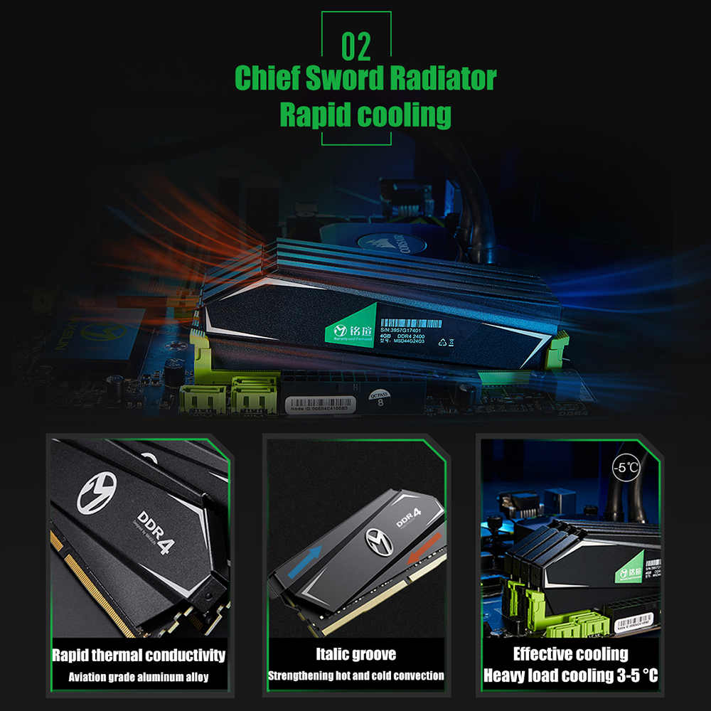 MAXSUN Ram DDR4 4GB 8GB 16GB Memory 2666MHz Lifetime Warranty Single Memoria Rams DDR4 1.2V 288Pin Interface Type  Desktop dimm 2