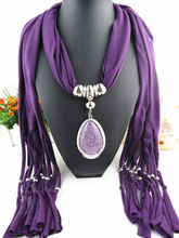 Ladies shawl scarf scarf alloy jewelry accessories pendant scarf drop pendant scarf  wholesale pendant scarf