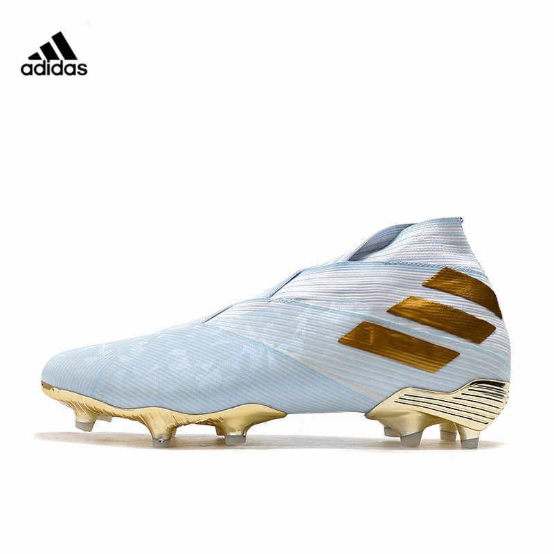 Abastecer Mejor recuperar  Adidas Nemeziz 19 + FG botas de fútbol zapatillas de deporte de tobillo  alto vendaje zapatos de fútbol Chuteira fútbol sin cordones|Calzado de  fútbol| - AliExpress