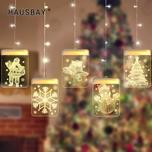 LED Light 5Pcs/Set Hanging Lamp USB Night Light Santa Shape Lighting Christmas Holloween Decoration Living Room Home decor D065 все цены