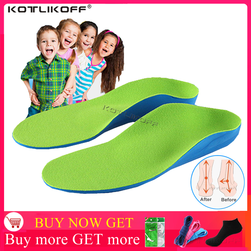 Kids Children Orthopedic Insoles For Children Shoes Flat Foot Arch Support Orthotic Pads Correction Health Feet Care Insole