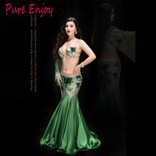 Belly Dancing Women belly dance costume set girls Oriental Dance Performance Set Wrapped fishtail Skirt