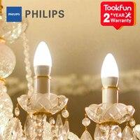 Bombilla de vela LED Xiaomi MIJIA Philips E14 bombillas de luz para el hogar LED lámpara araña Aplicación control brillo temperatura de color