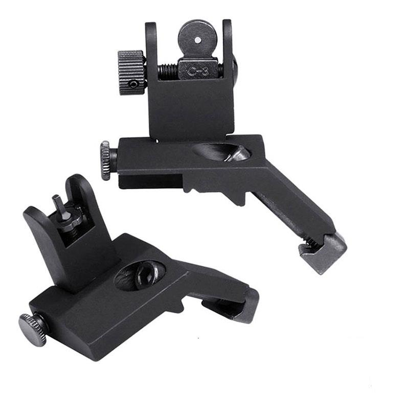 Magorui Front And Rear Flip Up 45 Degree Offset Rapid Transition Backup Iron Sight