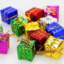 12 шт. Красочные Блестки подарок праздник Рождественская елка подарки декоративные Подвески Красочные Блестки подарочные пакеты