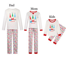 Family Matching Outfits Plaid Christmas Pajamas Mother Daughter Dad Son Sleepwear Mommy and Me Clothes C0521