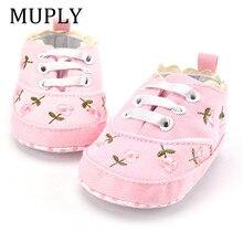 2021 moda primavera outono sapatos de bebê para recém-nascidos impressão floral do bebê meninas sola macia primeiros caminhantes anti-deslizamento sapatos de bebê para 0-18m