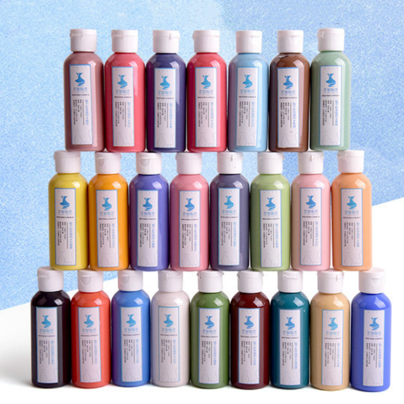 Pottery 24 Color 80ml Underglaze Color Concentrate Underglaze Color Pigment Painting Ceramic Pigment Colorant