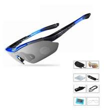 Поляризованные велосипедные солнцезащитные очки для спорта на