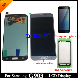 Image 3 - adhesive +100% Super AMOLED For Samsung S5 NEO LCD G903F Disaplay LCD Screen Touch Digitizer Assembly Home Button
