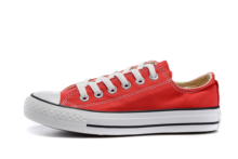 Converse all star men #8217 s and women #8217 s sneakers for men women canvas shoes all red High low classic Skateboarding Shoes cheap Unisex Rubber Lace-Up Fits larger than usual Please check this store s sizing info Others 101001 Classics FINALE EVO Thread