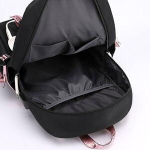 Image 5 - Fengdong kids school backpack for girls korean style black pink cute backpack schoolbag kawaii backpacks for teenage girls gift