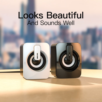 Mini Computer Speaker USB Wired Speakers 3D Stereo Sound Surround Loudspeaker For PC Laptop Notebook Not bluetooth Loudspeakers 4