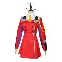 Cosdaddy darling no franxx cosplay traje 02 vestido vermelho uniforme conjunto completo feminino cosplay